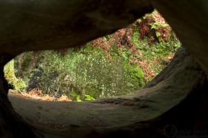 Pohled z jeskyně