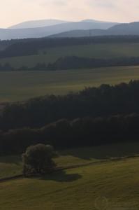 Adršpach - Výhled z Křížového vrchu směr Krkonoše