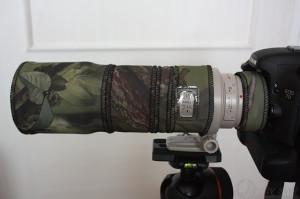 Canon EF300 mm f4L IS USM plus Canon extender 1.4x III a maskování