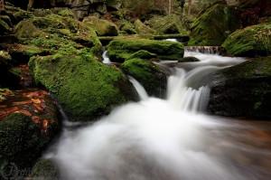 Rešovské vodopády - řeka Huntava - Nízký Jeseník