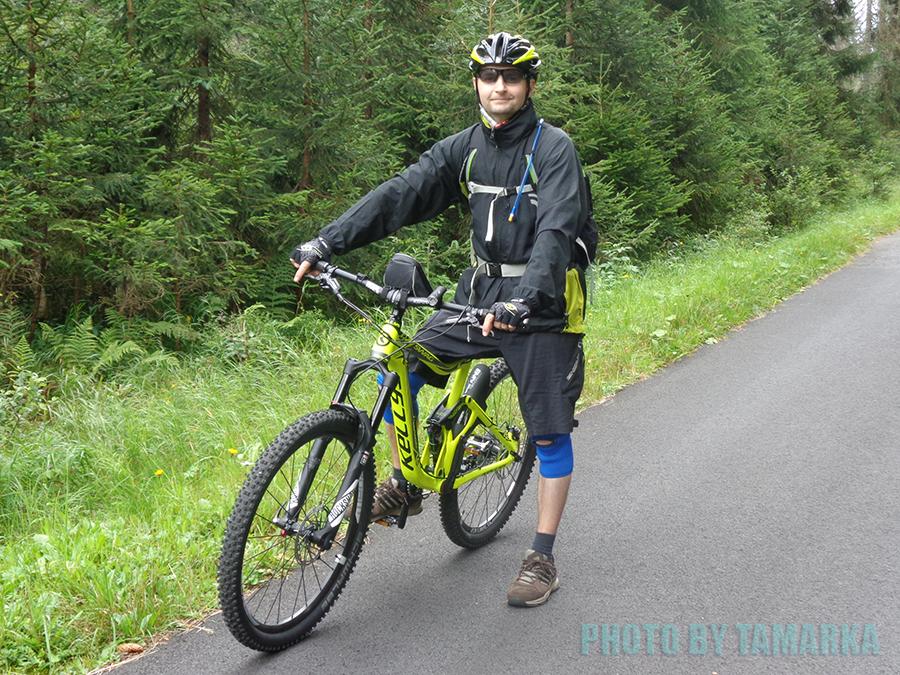 Já na kole Kellys SWAG 50. Šumava 2016