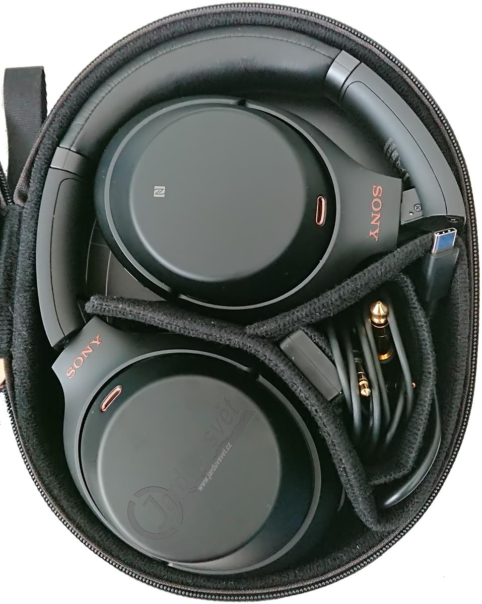 Bezdrátová sluchátka s aktivním potlačením okolního hluku Sony WH-1000XM3